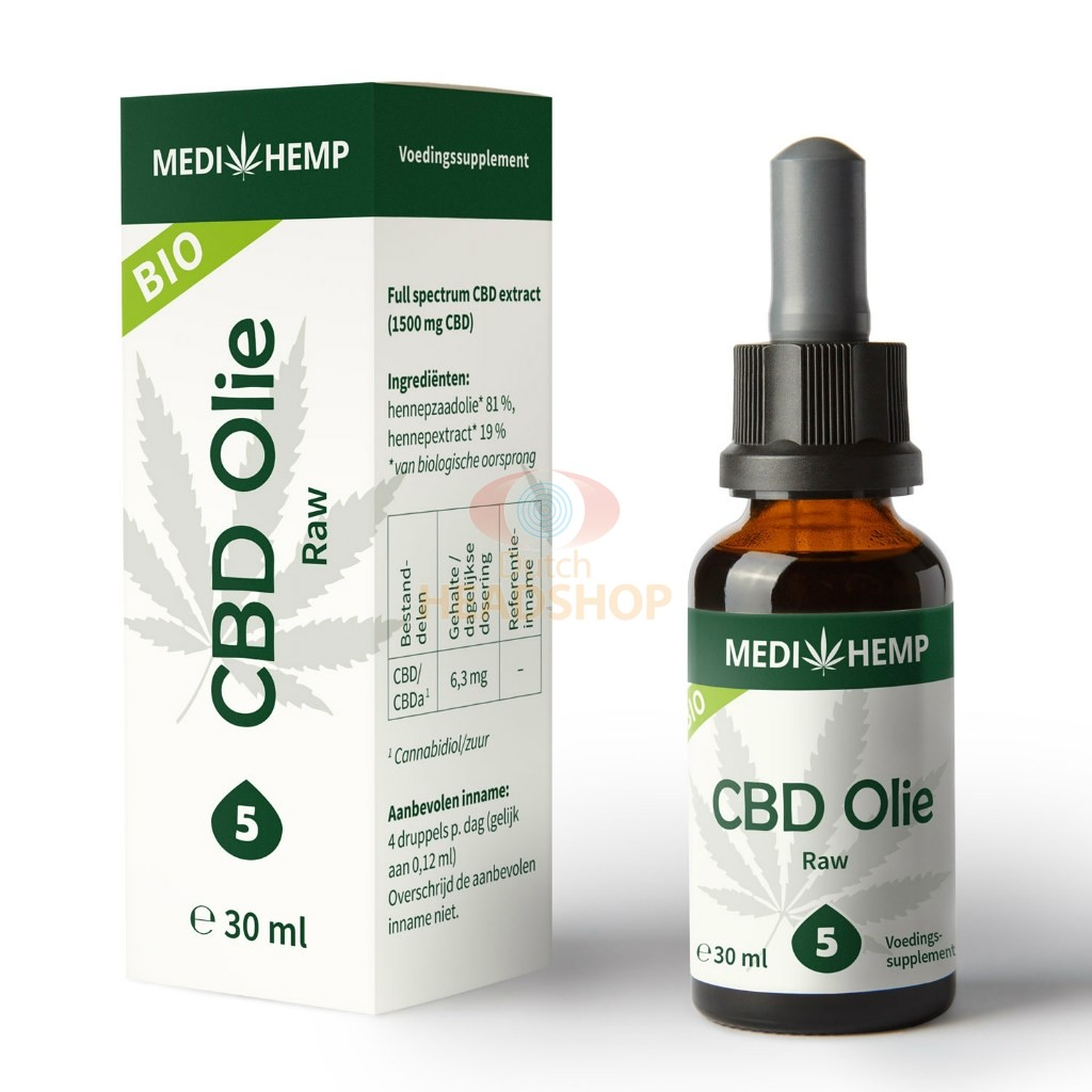 CBD Oil Raw (Medihemp) 5%
