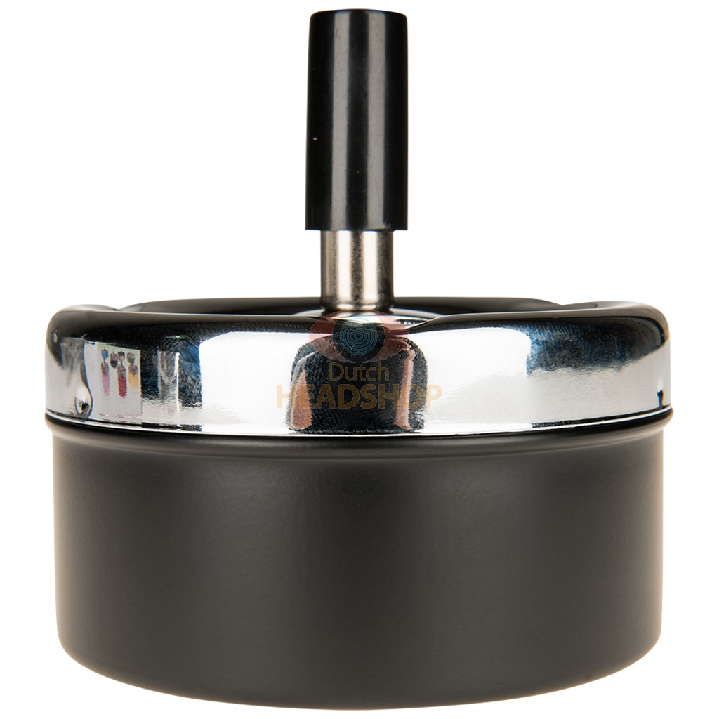 Round Spinner Ashtray - Black (90 mm)
