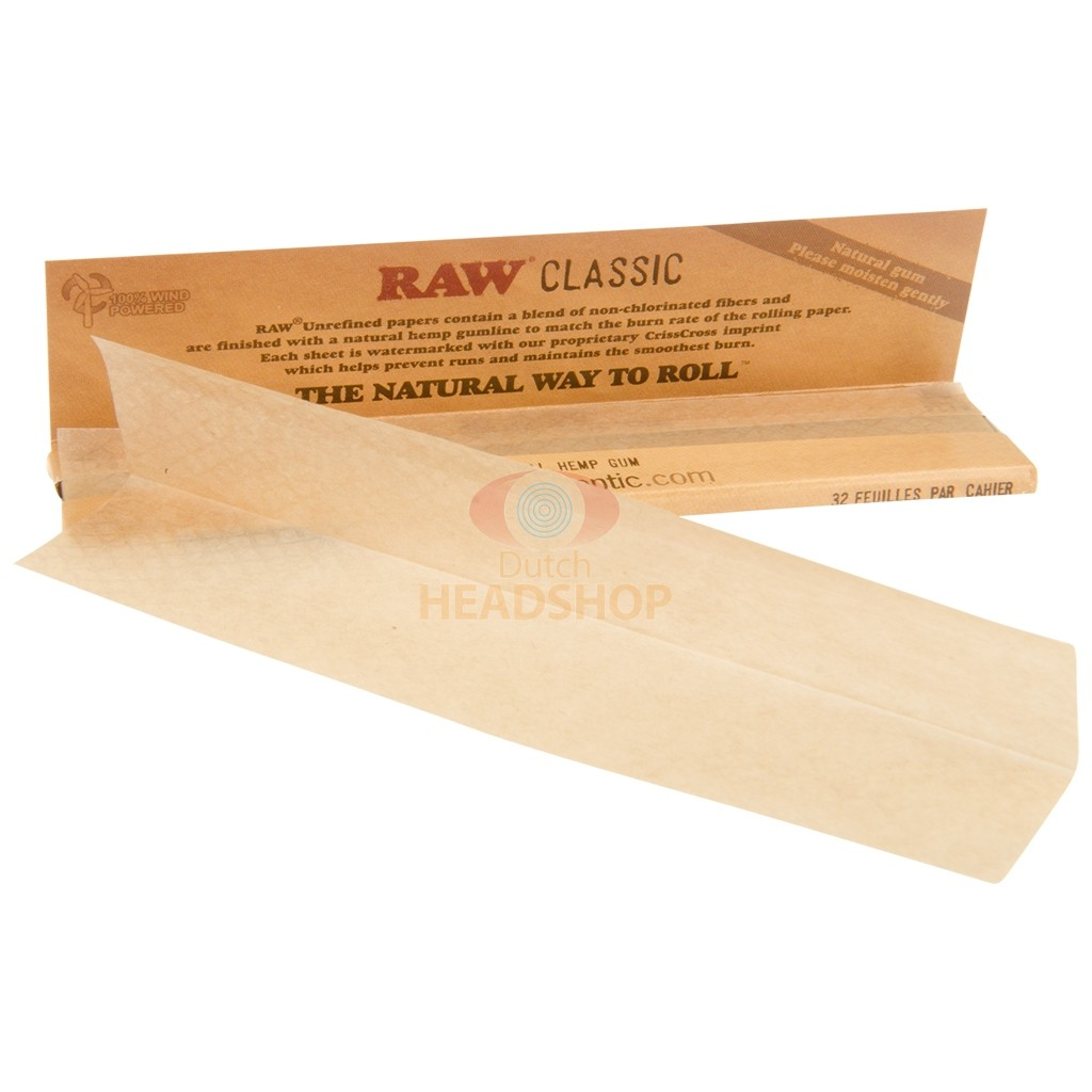 RAW Classic Papers Unbleached   King-Size Slim
