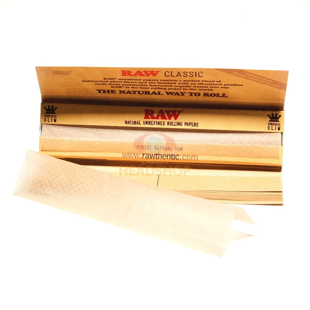 RAW Connoisseur Classic Papers and Tips | King-Size Slim