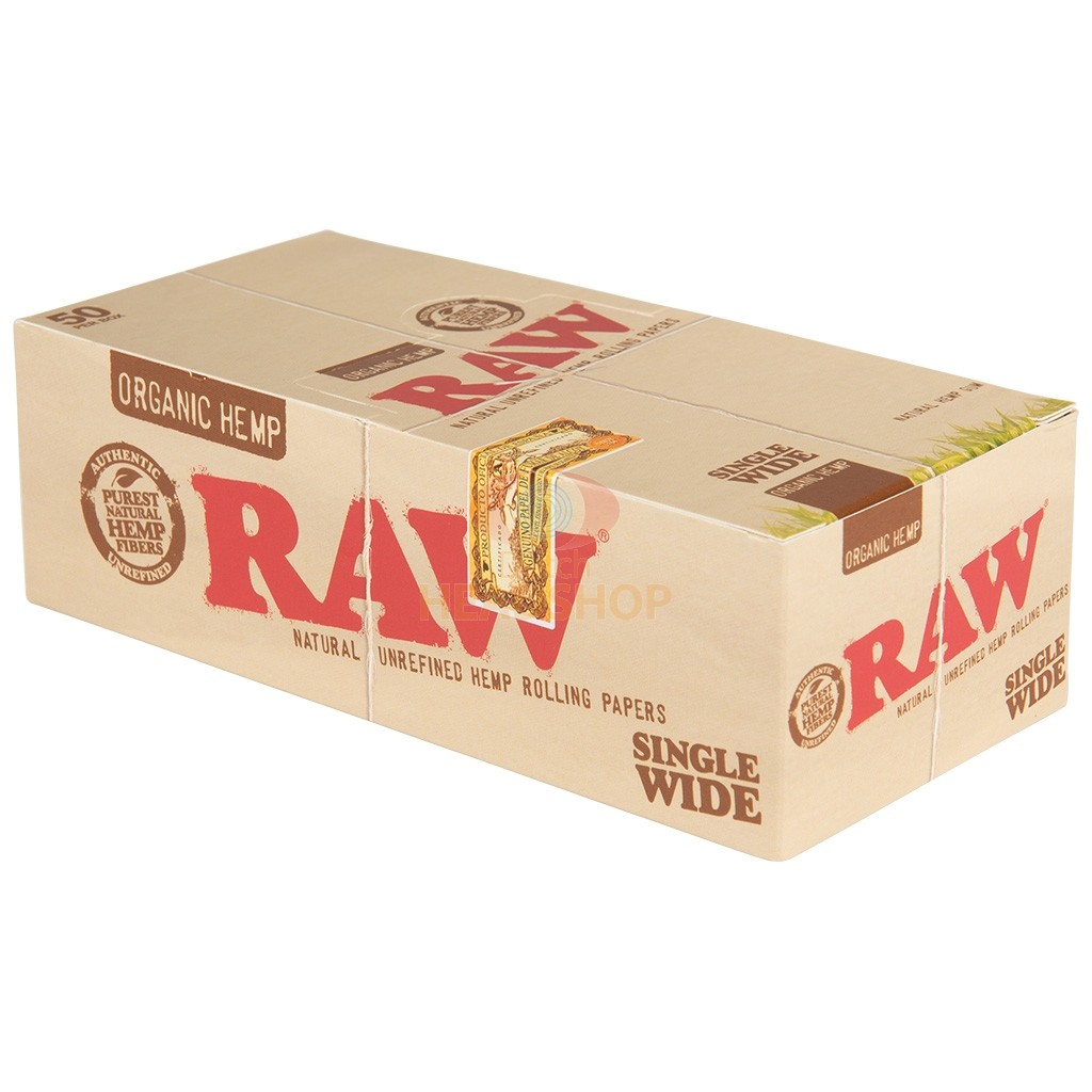Raw Organic Hemp Papers Single Wide