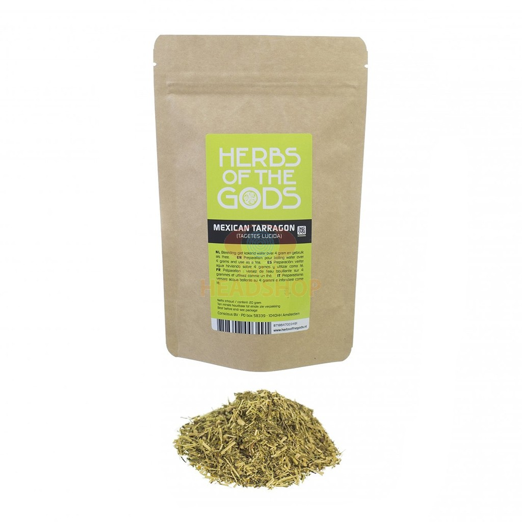 Mexican Tarragon [Tagetes lucida] Shredded (Herbs of the Gods) 20 grams