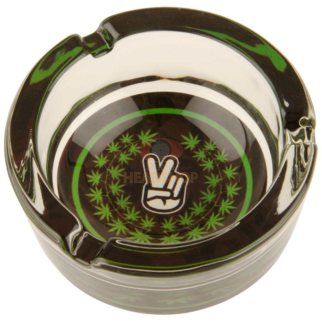 Glass Ashtray - Peace (85 mm)