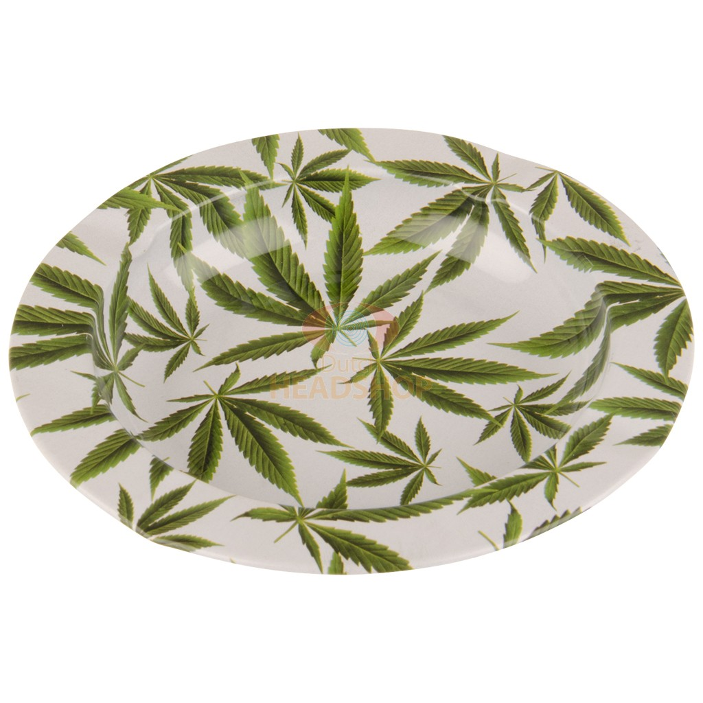 Metal Ashtray - Cannabis Leaves (130 mm)