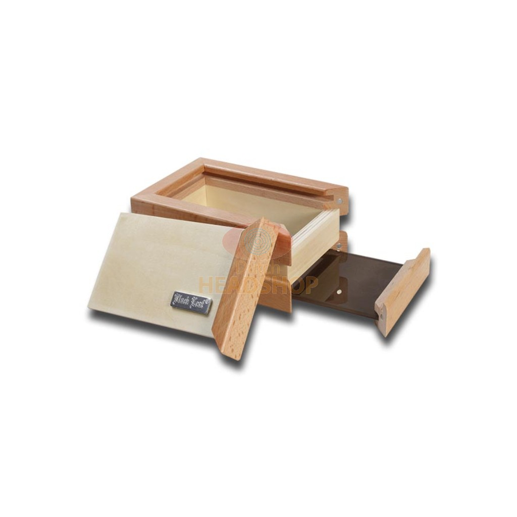 Kief Box | Hash Sifter Box (Black Leaf)