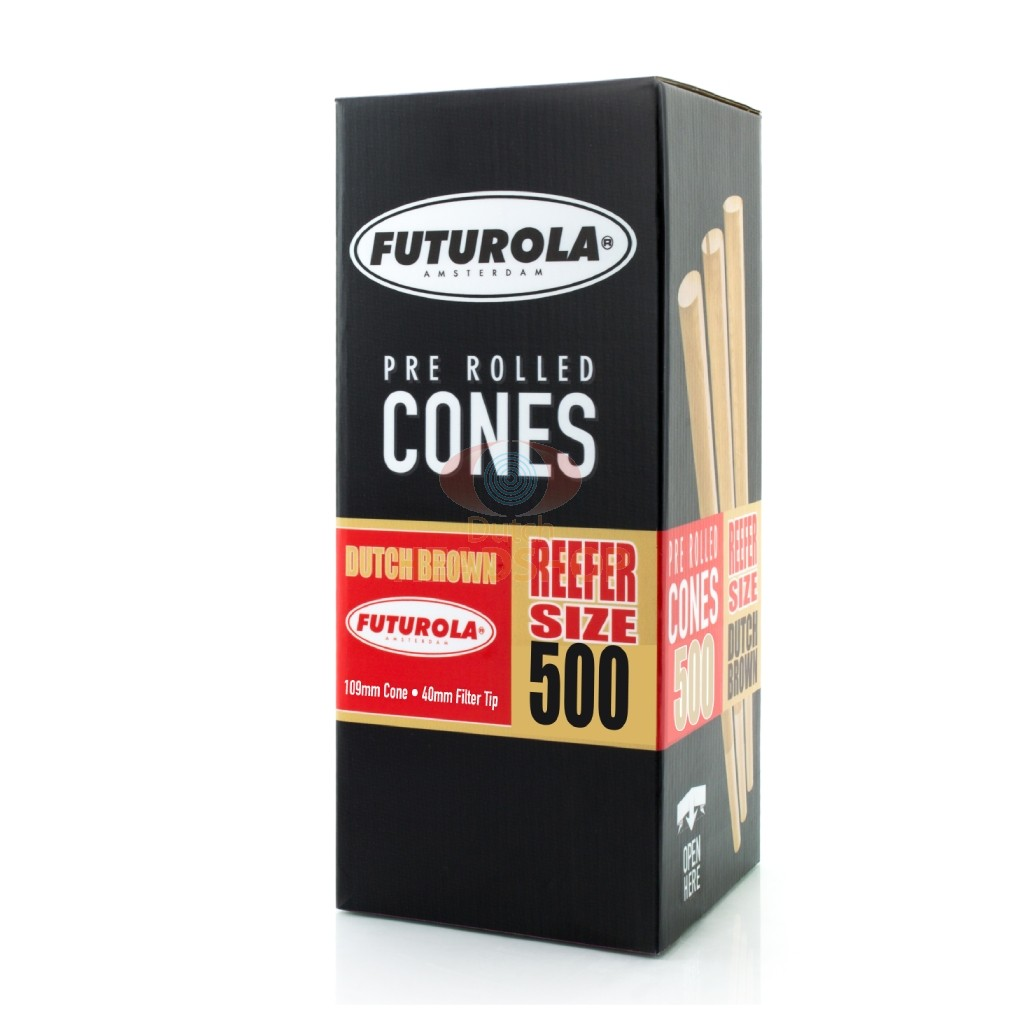 Cones Reefer-Size Brown Joint Tubes (Futurola) 109 mm 500 pieces