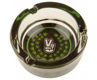 Glass Ashtray - Peace