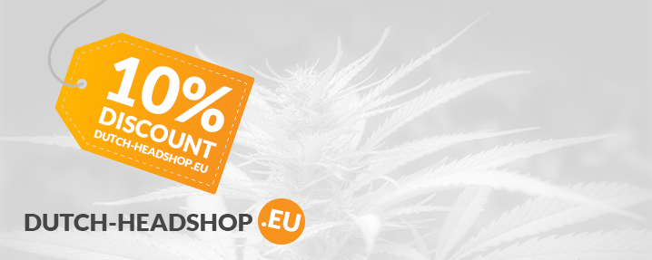 10 procent discount at Dutch-Headshop.eu